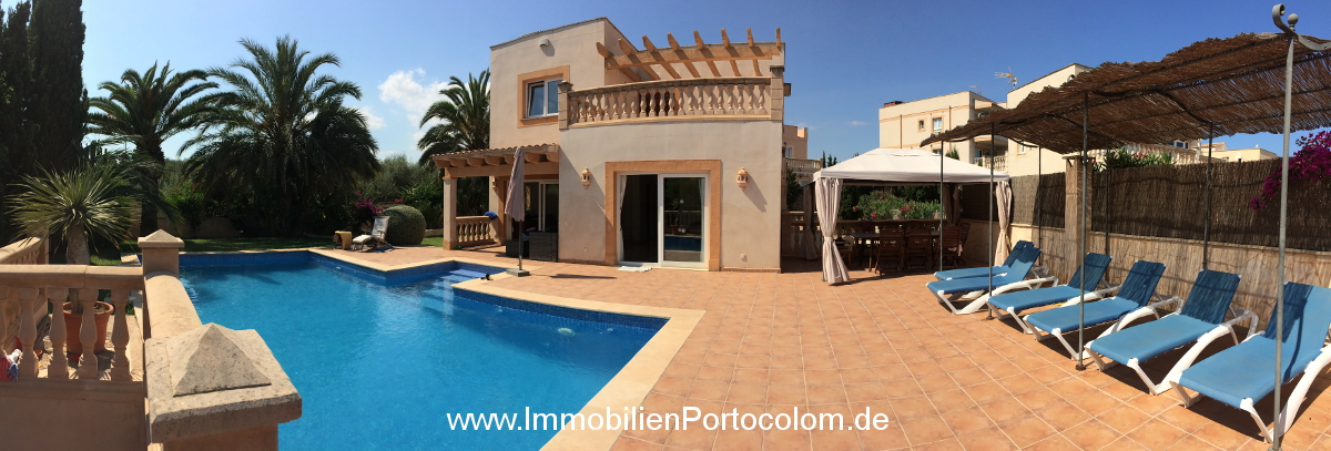 Chalet in Portocolom terrace pool 11719