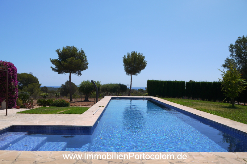 Finca Portocolom pool with view 16719