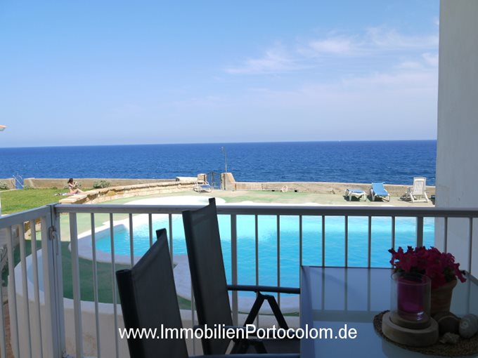 Property Groundfloor apartment in first line of Portocolom - Flat in 1. ocean line and Pool in Portocolom