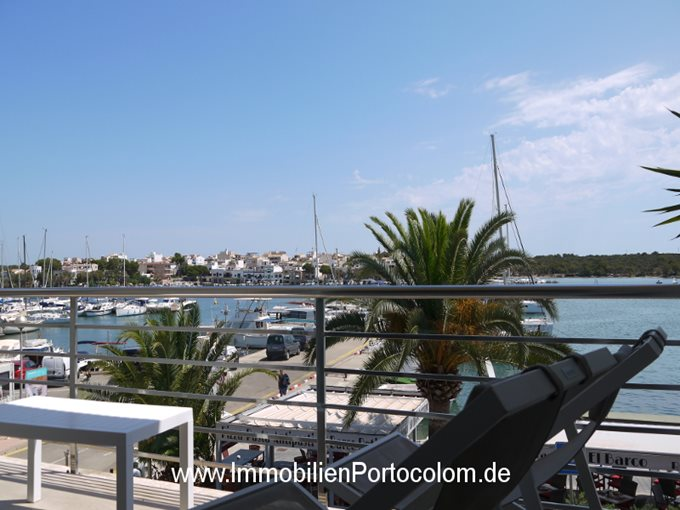 Property Apartment in 1. line of the harbor of Porto Colom - Flat in 1. ocean line of Portocolom with great views